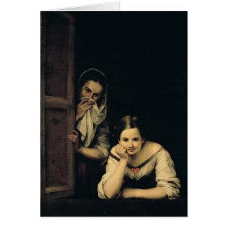 Cartes Femmes de Galicie à la fenêtre, 1670