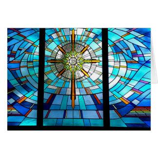 Cartes fenêtre en verre teinté, croix