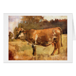 Cartes Ferdinand Hodler - vache dans un pâturage