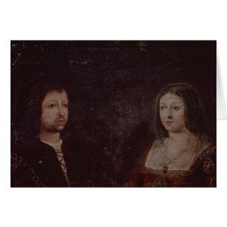 Cartes Ferdinand II d'Aragon et d'Isabella I de la