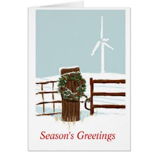 Cartes Ferme de vent de Noël