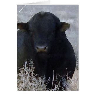 Cartes Ferme mignonne Taureau de ranch de félicitations