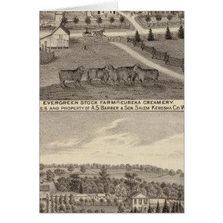 Cartes Fermes et industrie latière, Salem et Bristol Tp