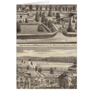 Cartes Fermes et résidences de WR Blodgett et