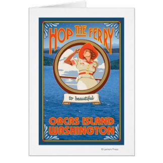 Cartes Ferry d'équitation de femme - orques île,