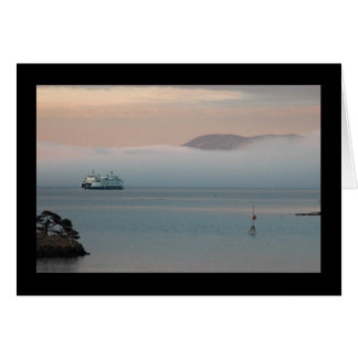 Cartes Ferry en brouillard de coucher du soleil