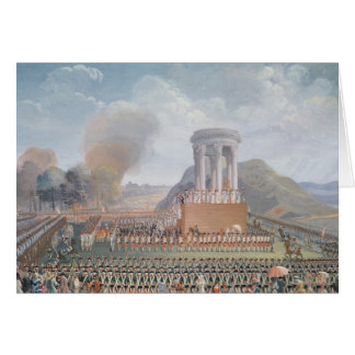 Cartes Festival de la fédération, le 14 juillet 1790