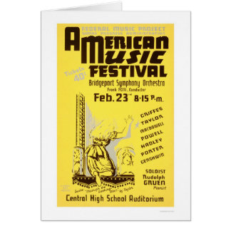 Cartes Festival de musique Amérique WPA 1938