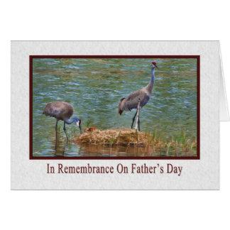 Cartes Fête des pères, dans le souvenir, grues de