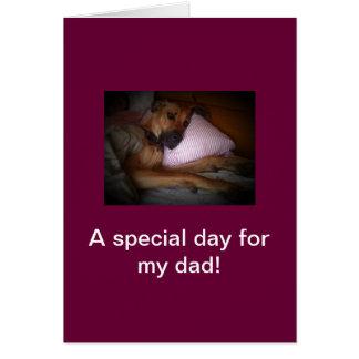 Cartes fête des pères heureuse de chien