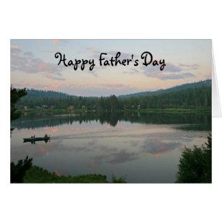 Cartes Fête des pères vide, lac