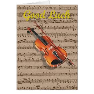 Cartes Feuille de violon et de musique