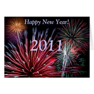 Cartes Feux d'artifice, bonne année ! , 2013