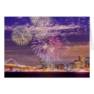 Cartes Feux d'artifice de nouvelle année de San Francisco