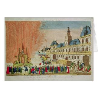 Cartes Feux d'artifice devant l'hôtel de Ville à Paris