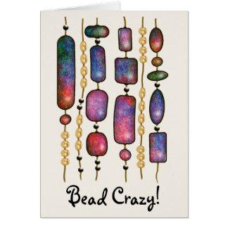 Cartes Ficelles des perles colorées