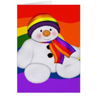 Cartes Fierté de bonhomme de neige