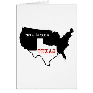 Cartes Fierté du Texas ! Le Texas/pas le Texas