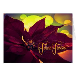 Cartes Fiestas espagnoles de Feliz de ¡ ! Poinsettia de