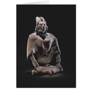 Cartes Figure de roi assis maya, d'ofJaina d'île