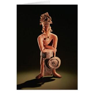 Cartes Figure d'un guerrier avec un bouclier