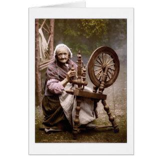 Cartes Fileur et roue de rotation irlandais
