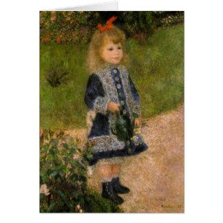 Cartes Fille avec Watercan par Renoir