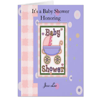Cartes Fille de baby shower