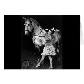 Cartes Fille de cirque avec Horse, 1908