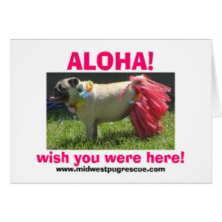 Cartes Fille de danse polynésienne de Sadie mai, ALOHA !