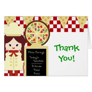 Cartes Fille de Merci de partie de pizza de KRW