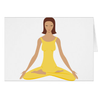Cartes Fille de pose de yoga