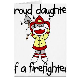 Cartes Fille de singe de sapeur-pompier