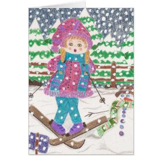 Cartes Fille de ski