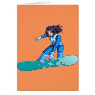 Cartes Fille de surfeur de Manga