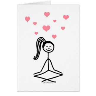 Cartes Fille de yoga
