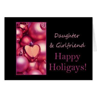 Cartes Fille et amie Holigays heureux rose