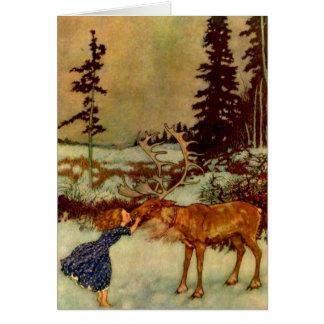 Cartes Fille et renne