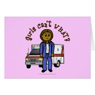 Cartes Fille foncée d'infirmier d'EMT