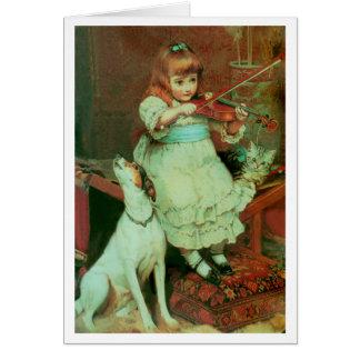 Cartes Fille jouant le violon