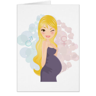 Cartes Fille ou garçon enceinte
