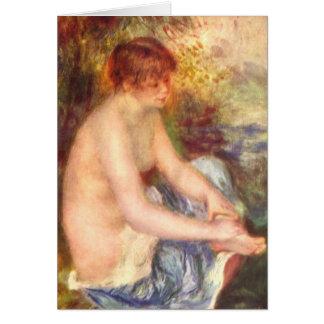 Cartes Fille s'asseyante - Pierre-Auguste Renoir