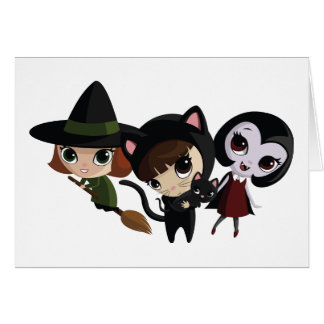 Cartes Filles de Halloween