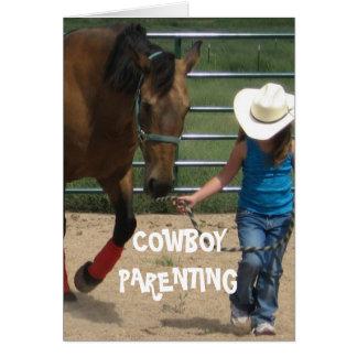 Cartes Filles et direction - Parenting de cowboy