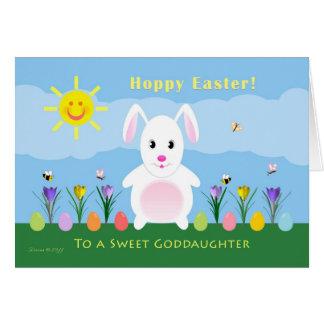 Cartes Filleule Pâques de houblon - lapin de Pâques