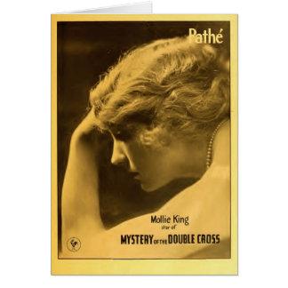 Cartes Film 1917 silencieux d'annonce de roi exposant de