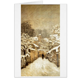 Cartes Fin de support Louveciennes d'Alfred Sisley - de