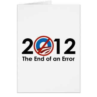 Cartes Fin d'Obama d'une ERREUR