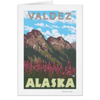 Cartes Fireweed et montagnes - Valdez, Alaska