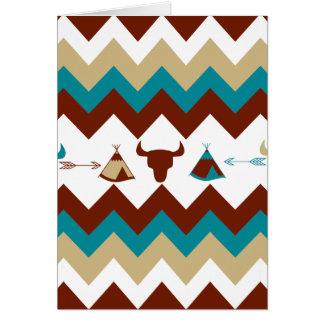 Cartes Flèches tribales de Tipi de crânes de Chevron de